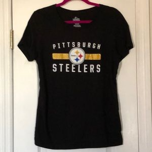 Pittsburgh Steelers Tee with Glitter Stripe